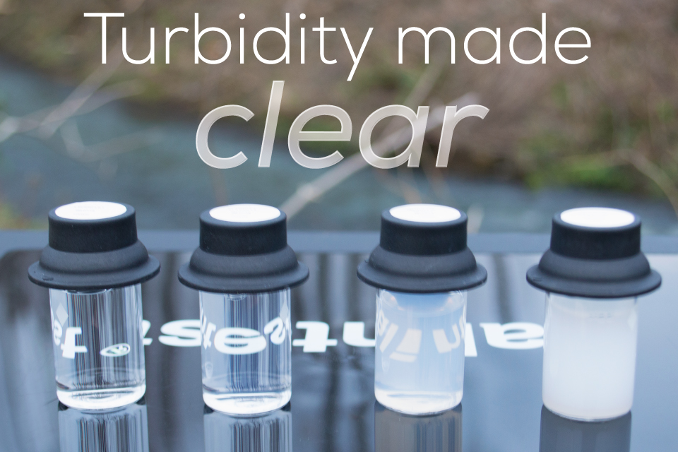 Clear and cloudy turbidity water testing vials